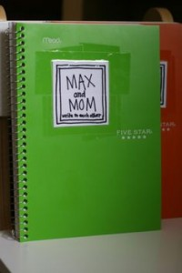 green notebook journal