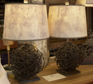 two brown lamps