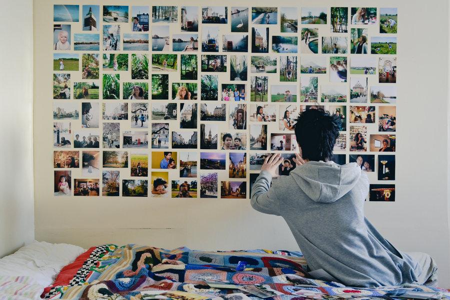 Polaroid collage DIY