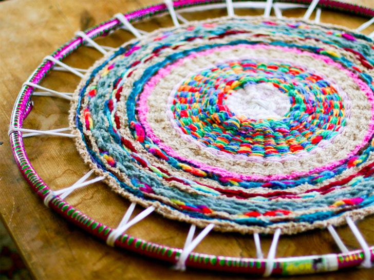 t-shirt rug DIY