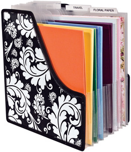 scrapbook paper holder
