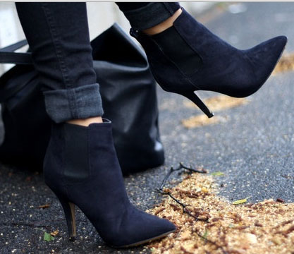 Healed ankle booties