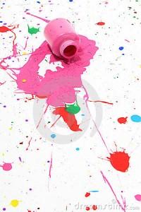 spilled paint splatters