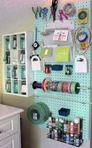 pegboard craft storage