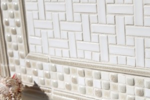 white tile backsplash