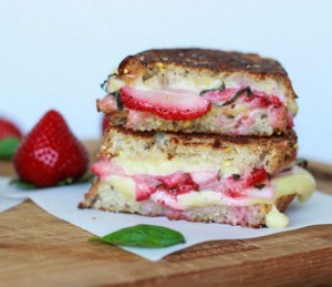 Grilled fruit and cheese