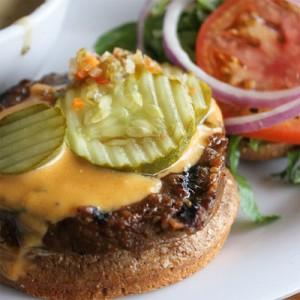 Cheese veggie burger
