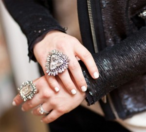 Oversized cocktail rings