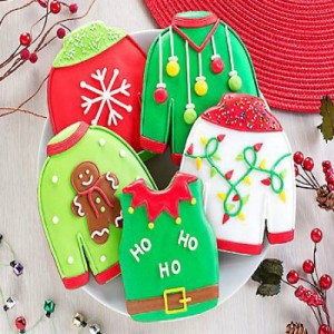 Wine Country Ugly Sweater Cookies