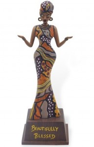 afro centric sculpture and figure