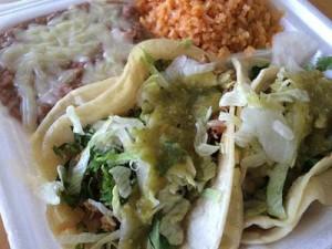Taco/burrito/nacho bar