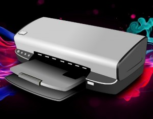 Printer with flatbed scanner