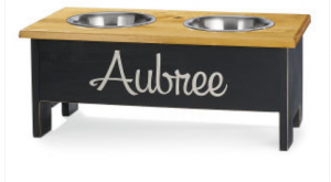 personalized dog feeder