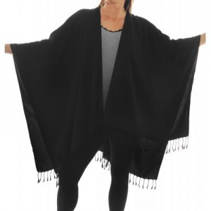 black shawl wrap