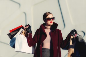 stylish woman shopping