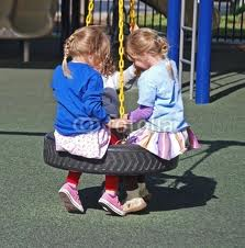 swings at the playground