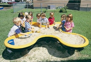 playground sandbox treasure hunting