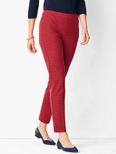 red pants at Talbots