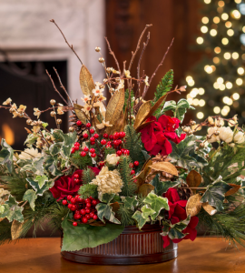 floral holiday centerpieces