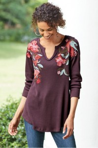 flower tunic at Soft Surroundings