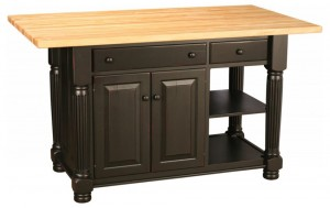 kitchen island at Amish Outlet Store