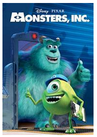 Monsters Inc at Disney Movie Club