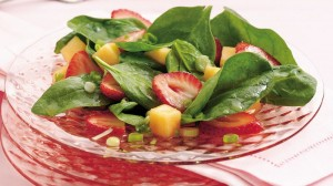 strawberry melon salad
