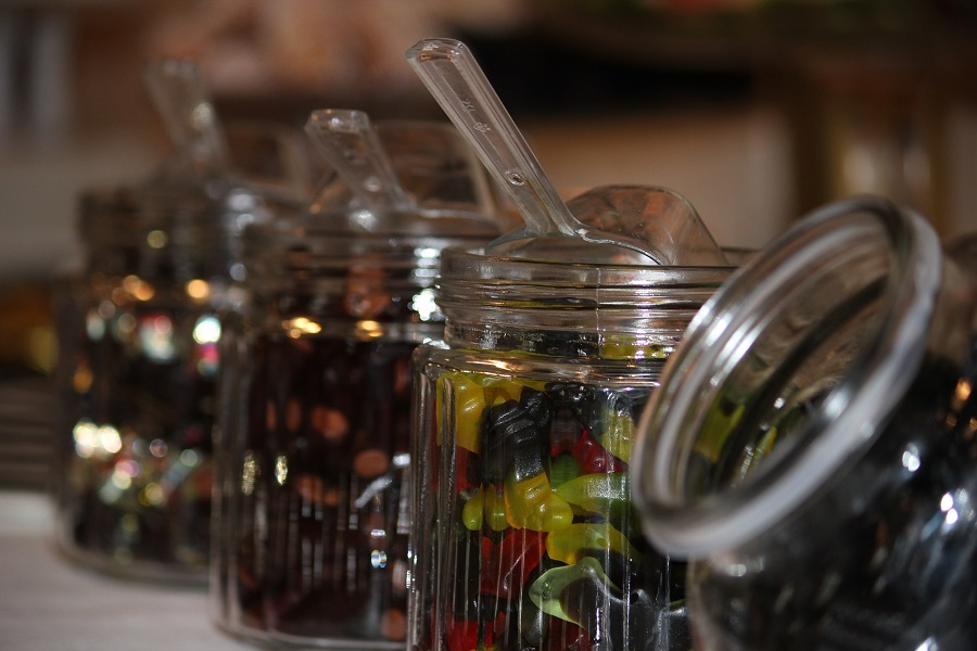 old fashioned candy in jar