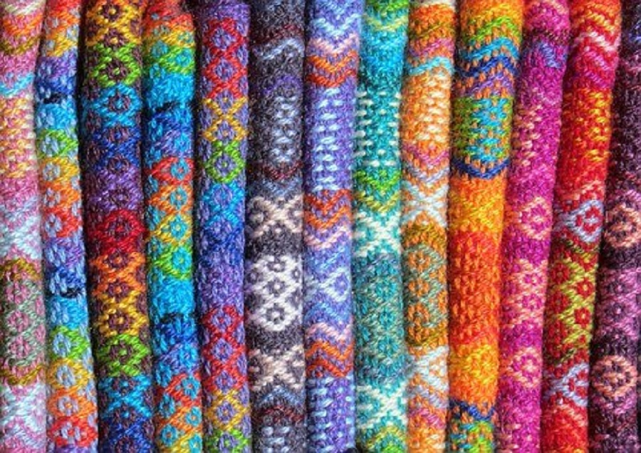 Colorful knitted fabrics
