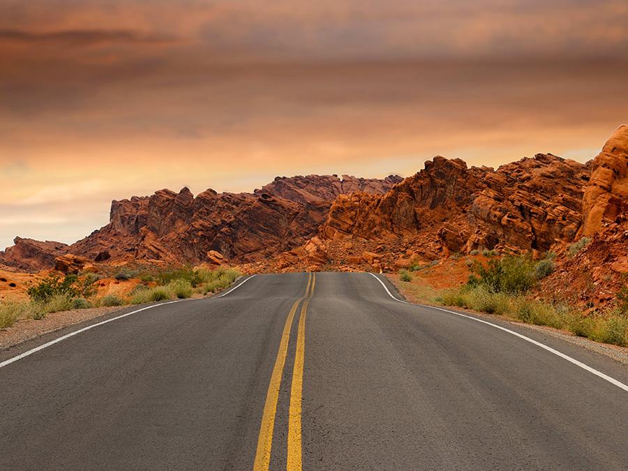 Roads Going Through Rocky Mountains