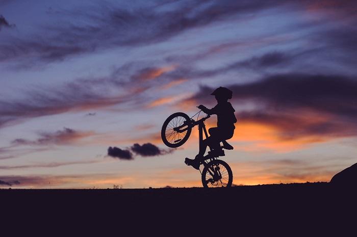 BMX riding tricks