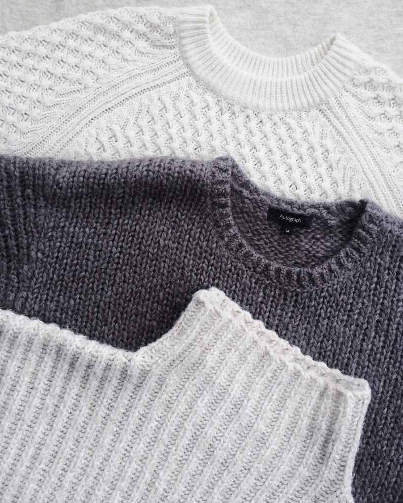 Knits Can be Constructed Into Small Pieces