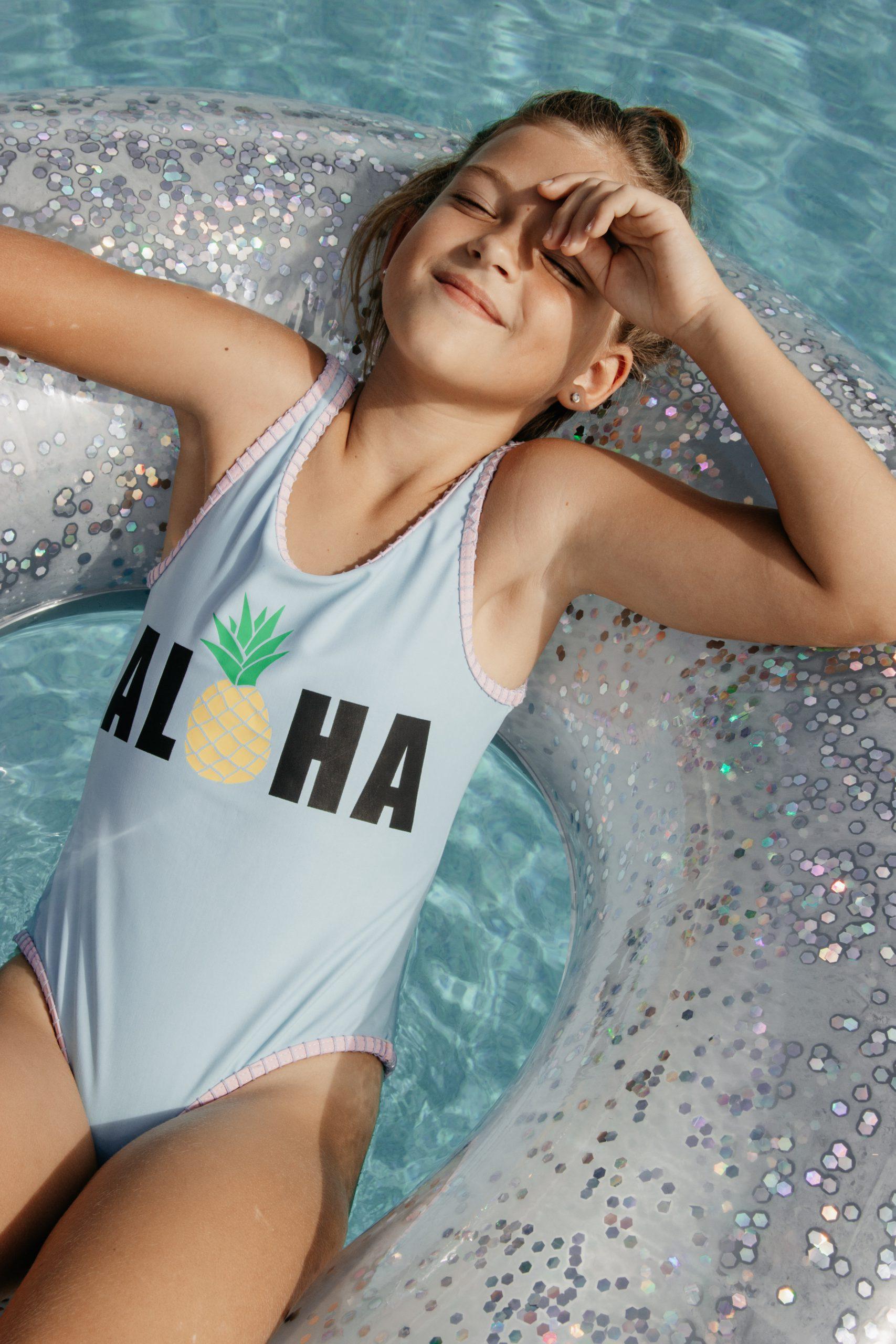 Girls swimwear evolution